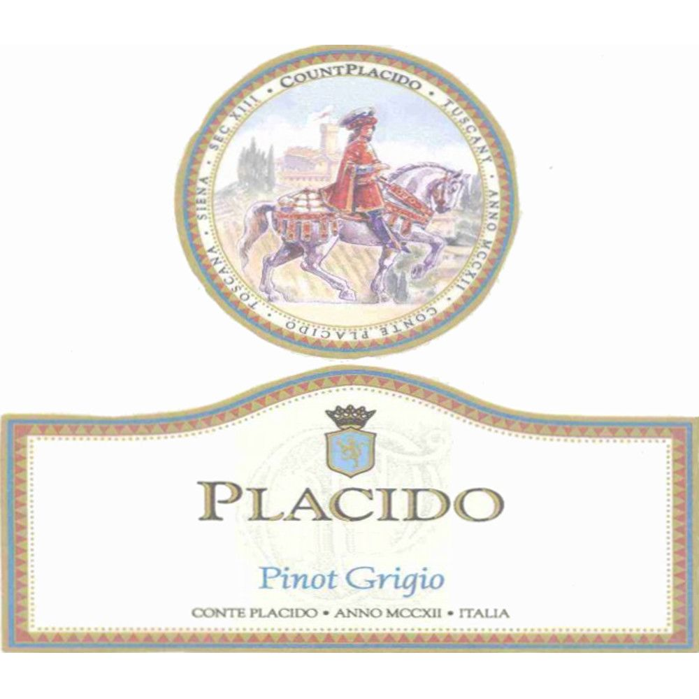 Placido Pinot Grigio 2007 Front Label