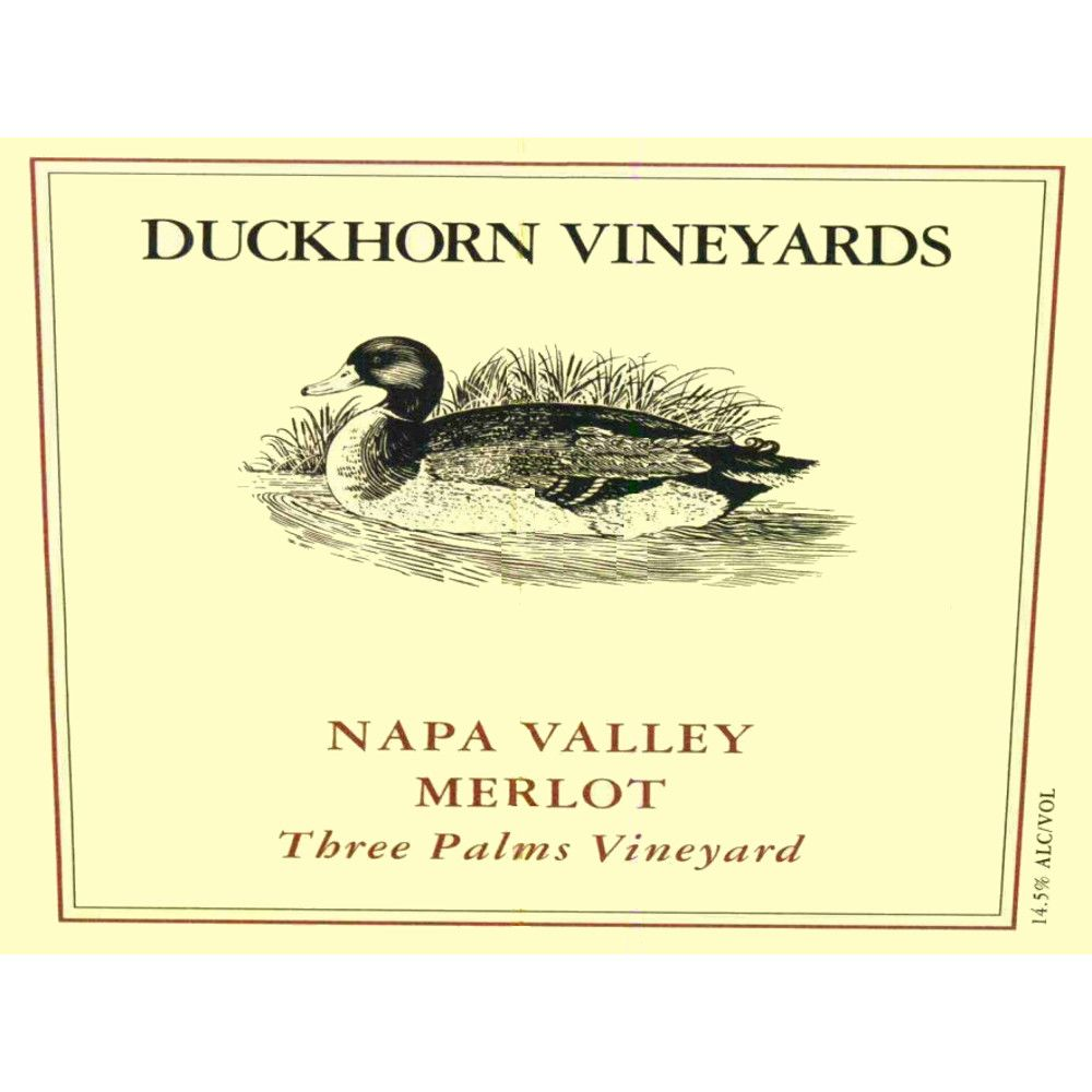 Duckhorn Three Palms Merlot 2005 Front Label