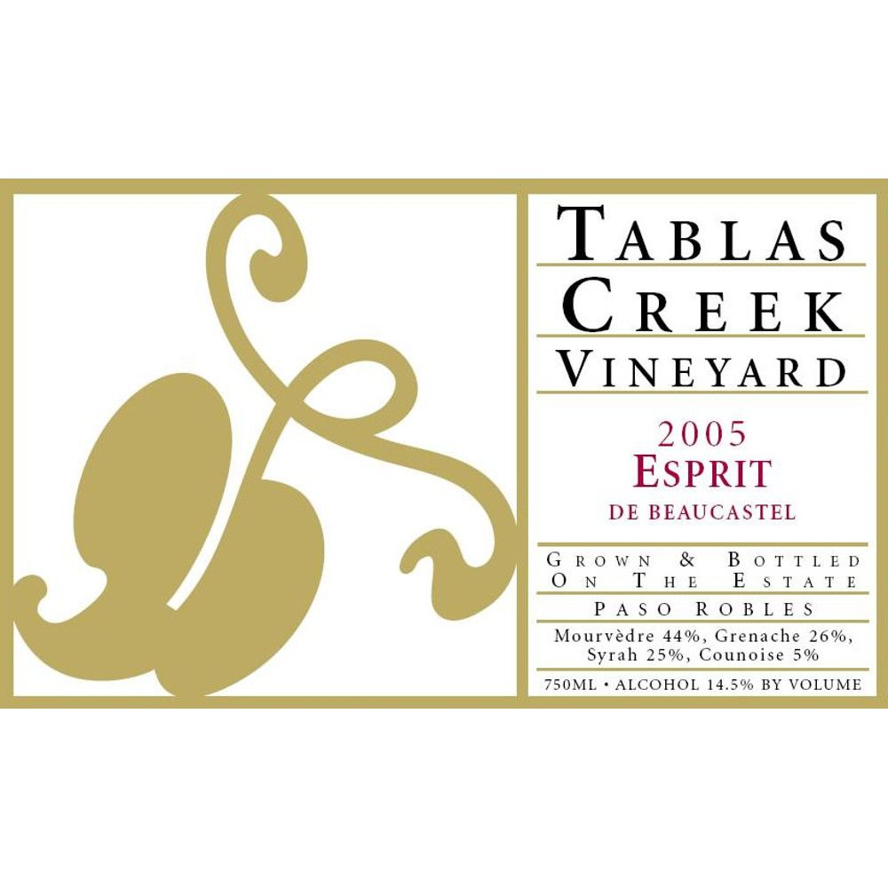 Tablas Creek Esprit de Beaucastel Rouge 2005 Front Label