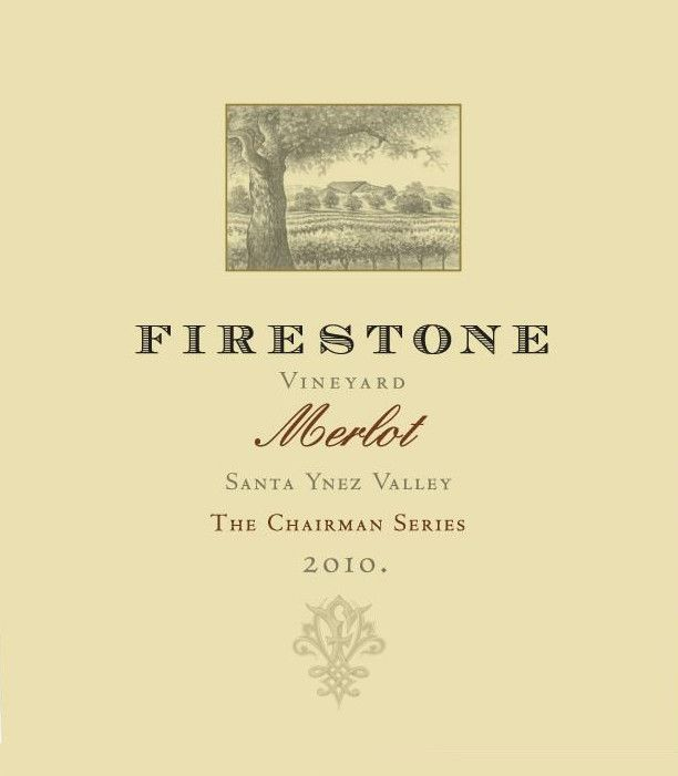 Firestone The Chairman Series Merlot 2010 Front Label