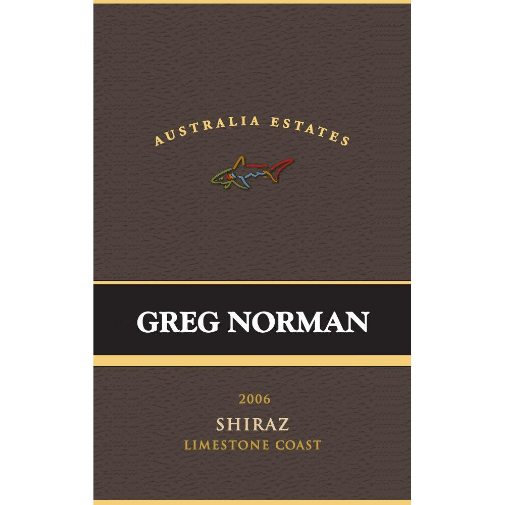 Greg Norman Estates Limestone Coast Shiraz 2006 Front Label
