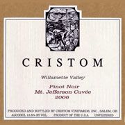 Cristom Mt. Jefferson Cuvee Pinot Noir 2006 Front Label