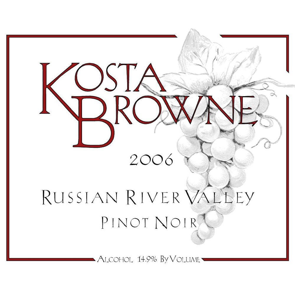 Kosta Browne Russian River Pinot Noir 2006 Front Label