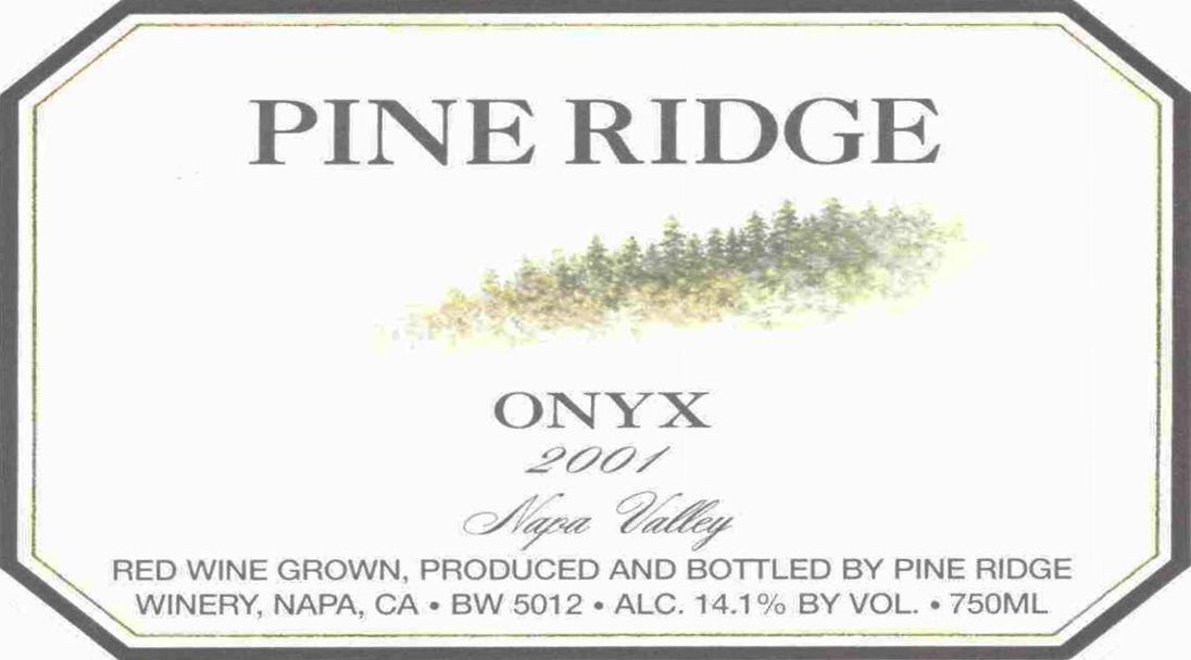 Forefront by Pine Ridge Onyx 2001 Front Label