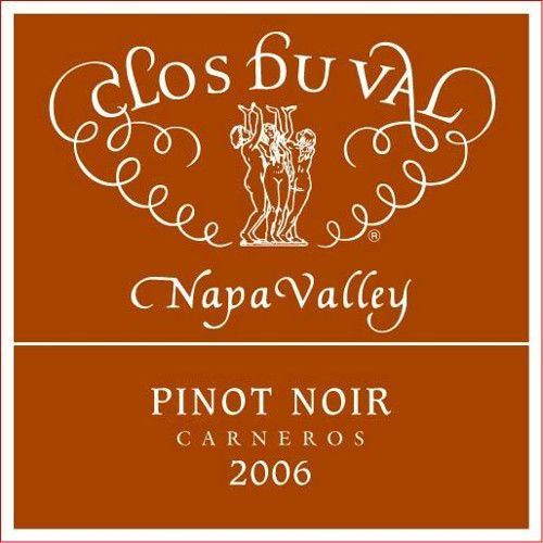 Clos Du Val Carneros Estate Pinot Noir 2006 Front Label