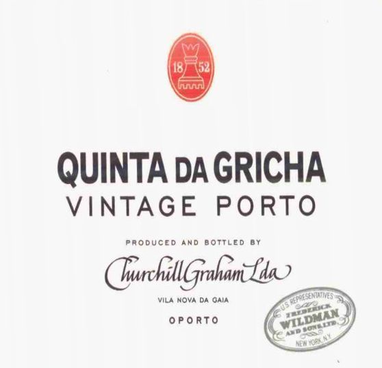 Churchill's Quinta da Rio Vintage Port 2001 Front Label