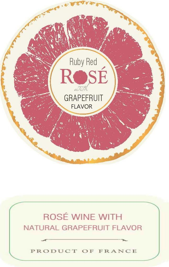 Ruby Red Rose Front Label