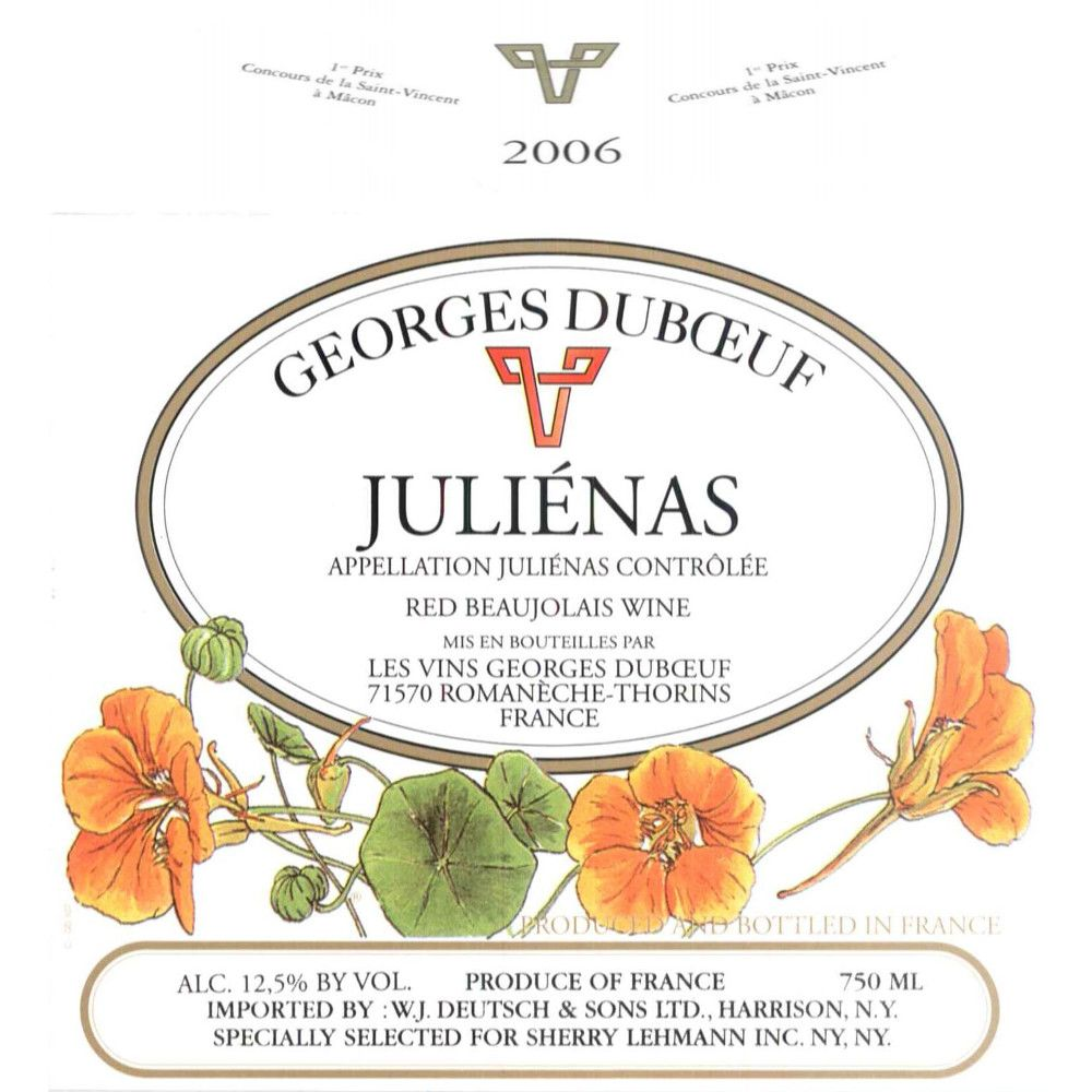 Duboeuf Julienas 2006 Front Label