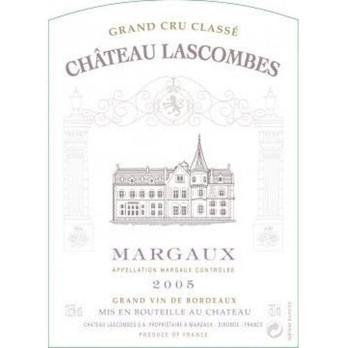 Chateau Lascombes  2005 Front Label