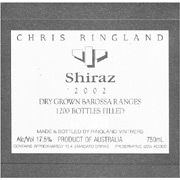 Chris Ringland Shiraz 2002 Front Label