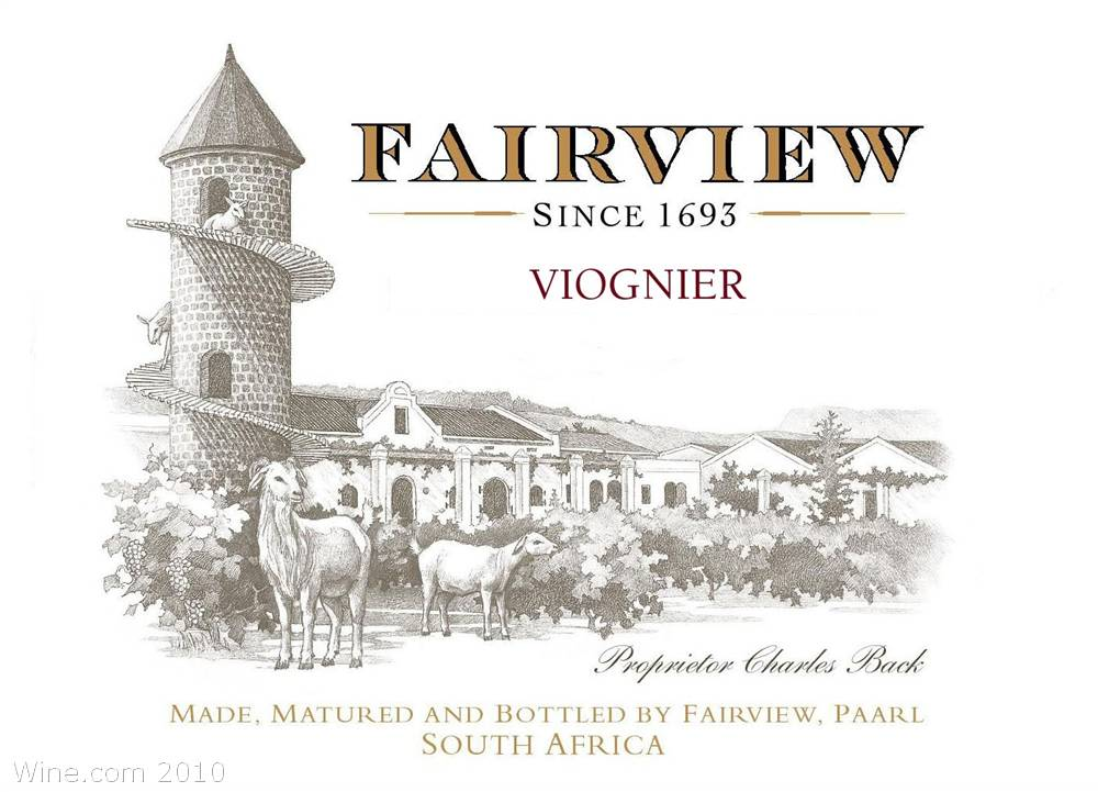 Fairview Viognier 2007 Front Label