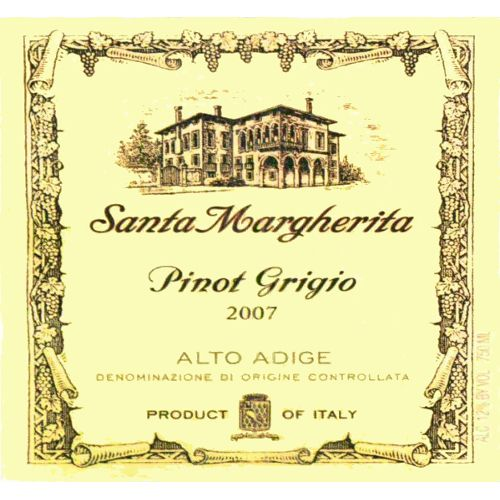 Santa Margherita Pinot Grigio (375ML half-bottle) 2007 Front Label