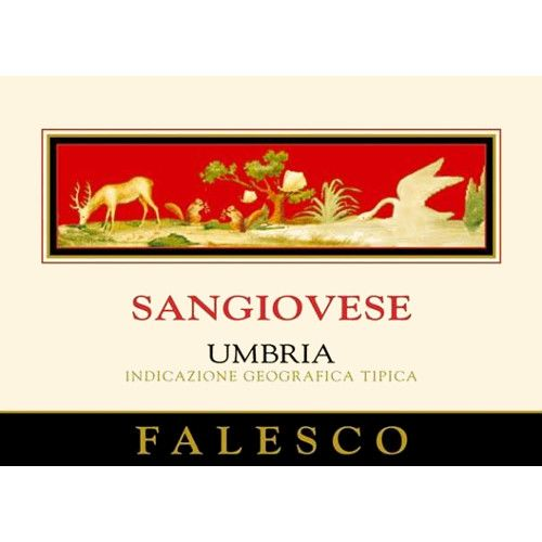Falesco Sangiovese 2007 Front Label