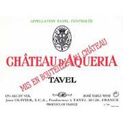 Chateau D'Aqueria Tavel Rose 2007 Front Label