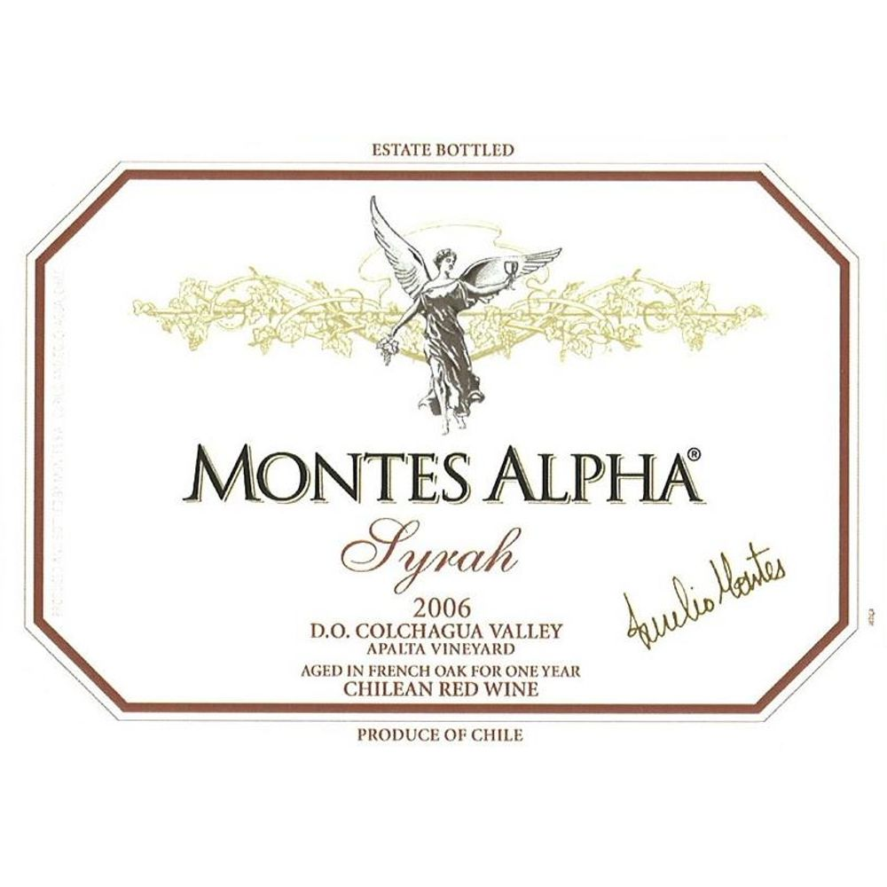 Montes Alpha Series Syrah 2006 Front Label