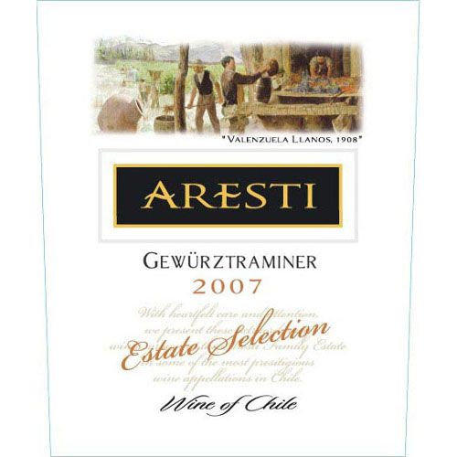 Aresti Estate Selection Gewurztraminer 2007 Front Label