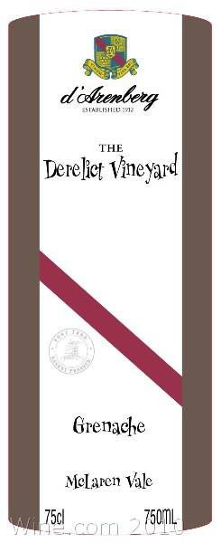 d'Arenberg The Derelict Vineyard Grenache 2006 Front Label