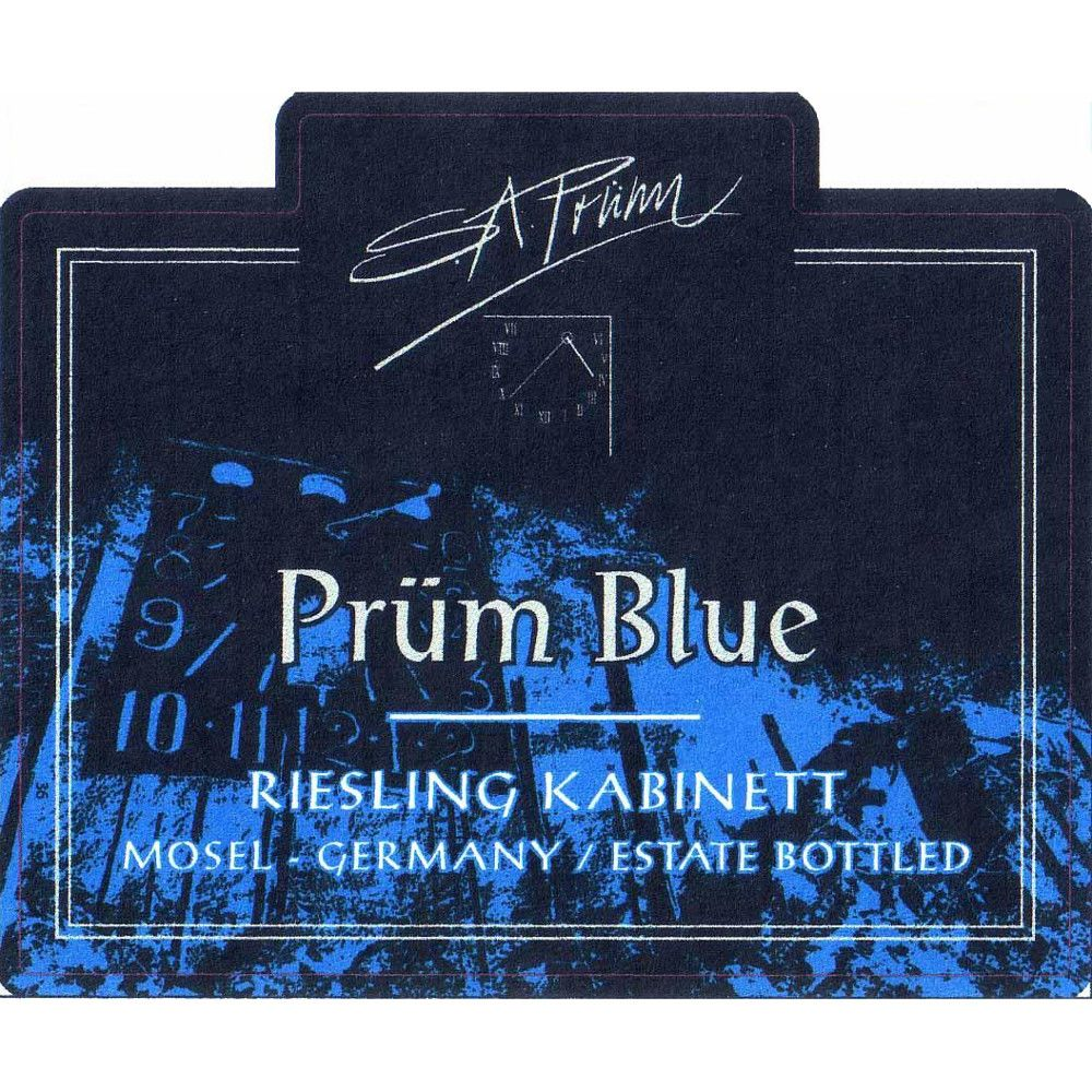 S.A. Prum Blue Riesling Kabinett 2007 Front Label