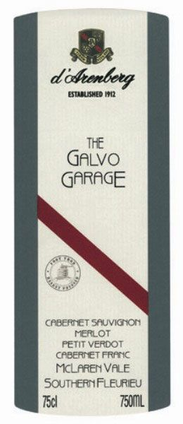 d'Arenberg The Galvo Garage 2006 Front Label