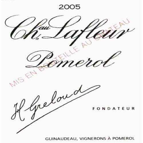 Chateau Lafleur  2005 Front Label