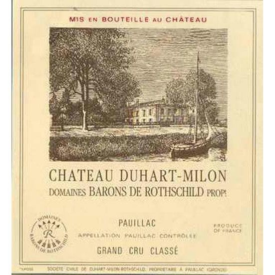 Chateau Duhart-Milon  2000 Front Label