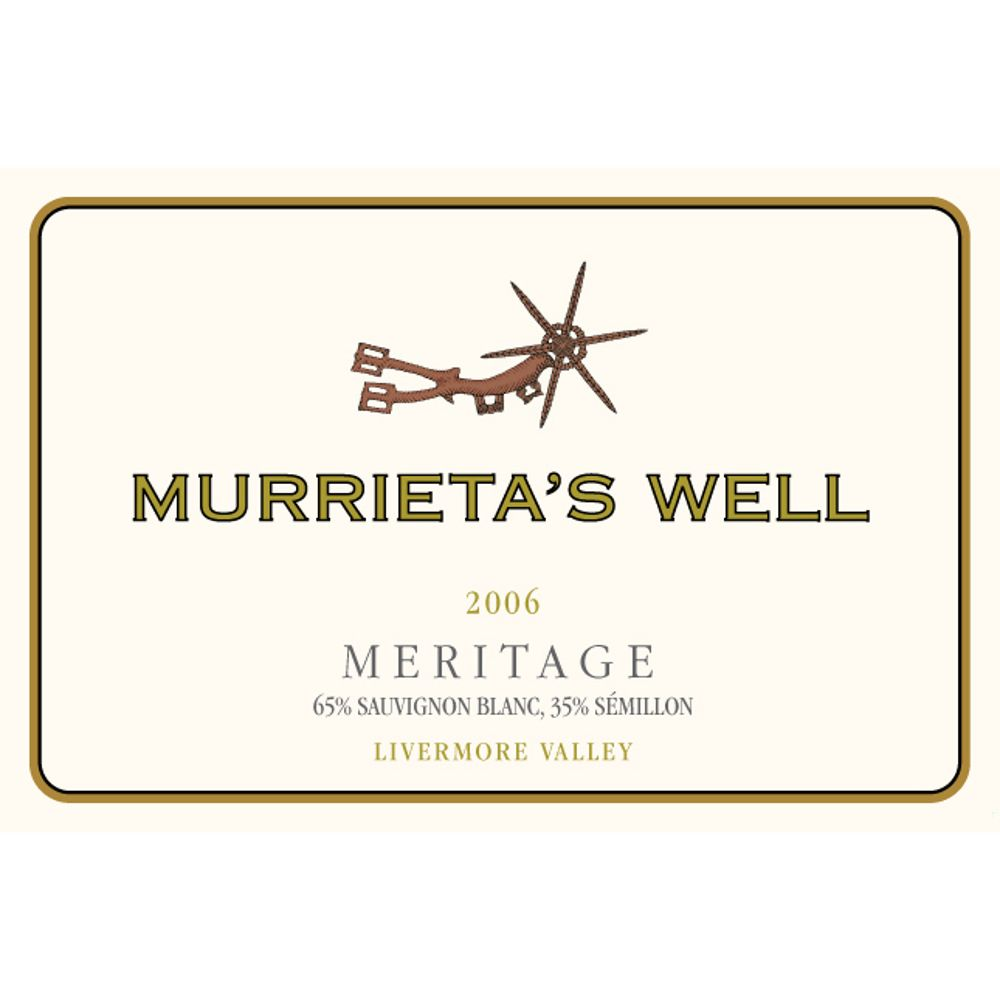 Murrieta's Well White Meritage 2006 Front Label