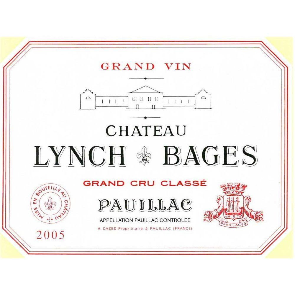 Chateau Lynch-Bages  2005 Front Label