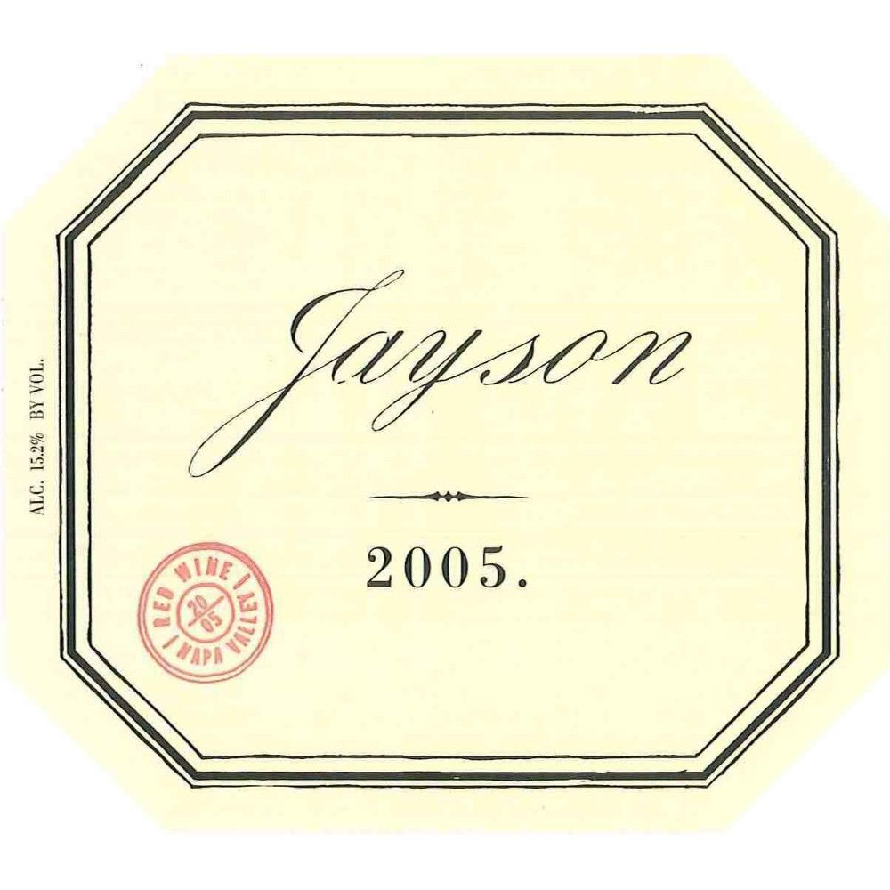 Pahlmeyer Jayson Red 2005 Front Label
