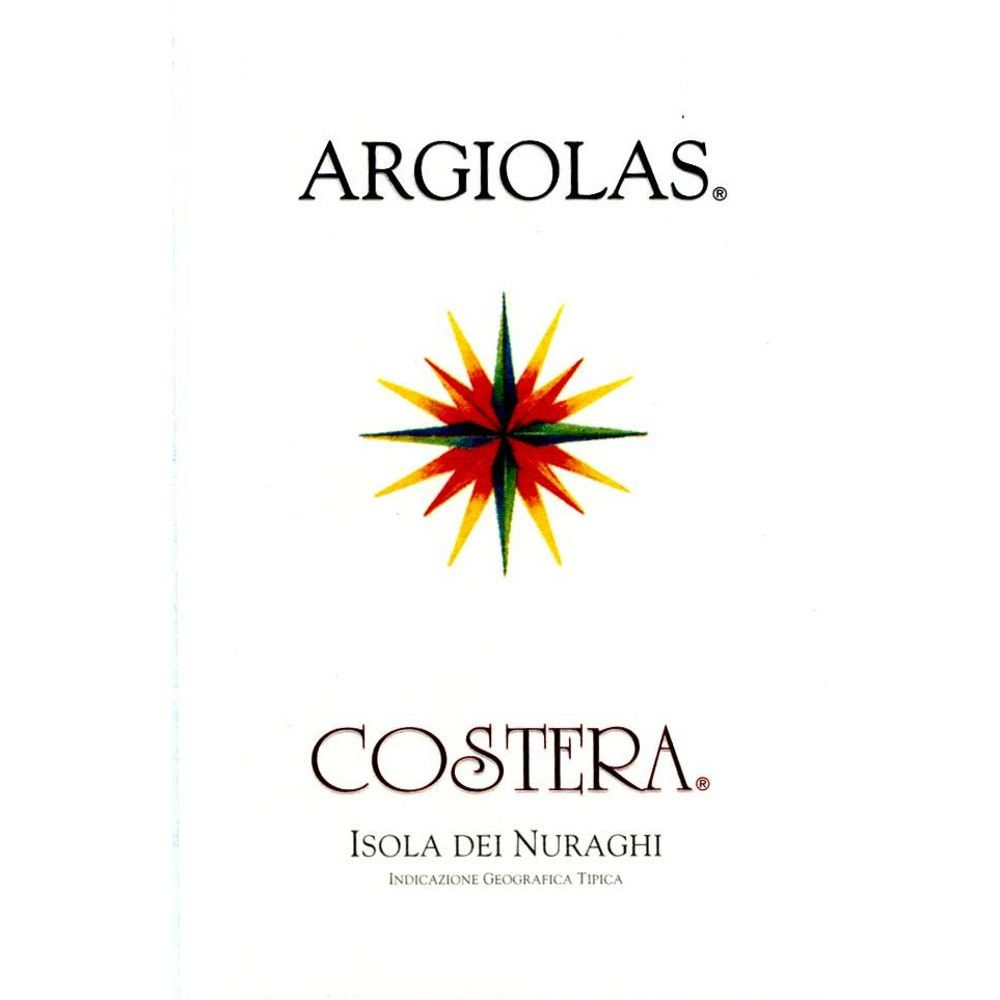 Argiolas Costera 2007 Front Label