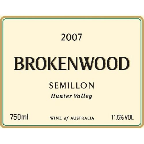 Brokenwood Hunter Valley Semillon 2007 Front Label