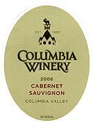 Columbia Winery Cabernet Sauvignon 2004 Front Label