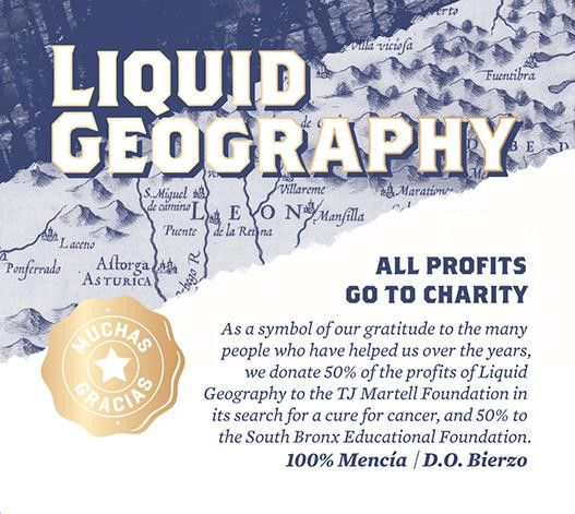 Liquid Geography Rose 2015 Front Label