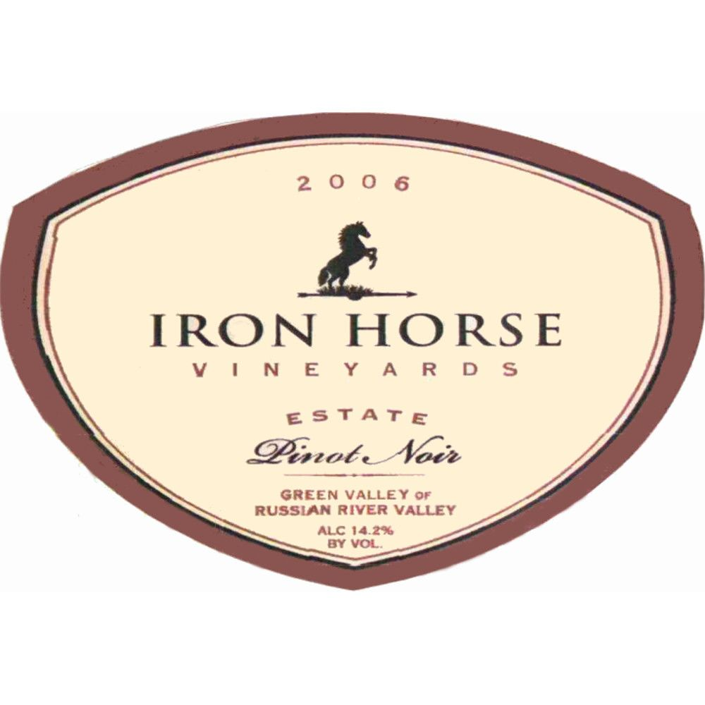 Iron Horse Estate Pinot Noir 2006 Front Label