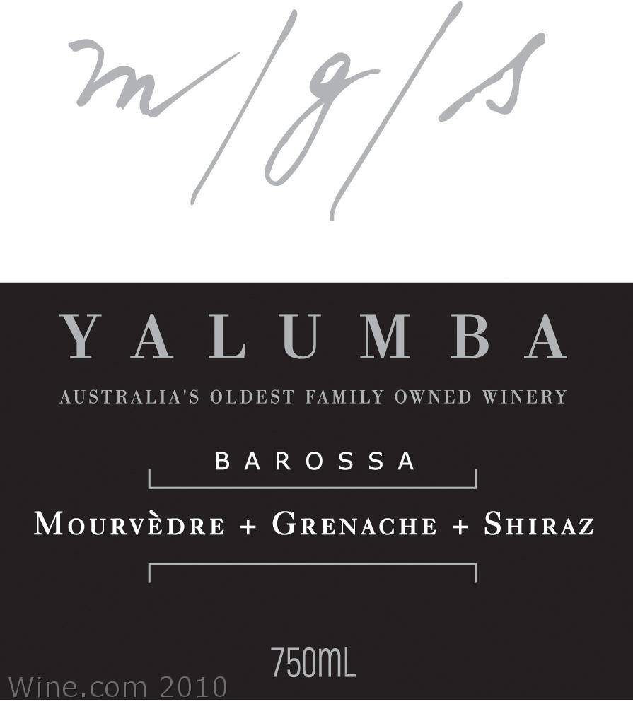 Yalumba Hand-Picked Mourvedre Grenache Shiraz 2006 Front Label