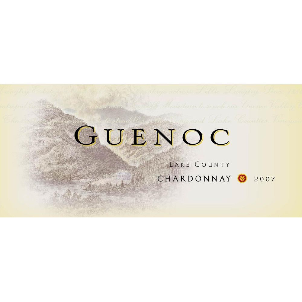 Guenoc Lake County Chardonnay 2007 Front Label