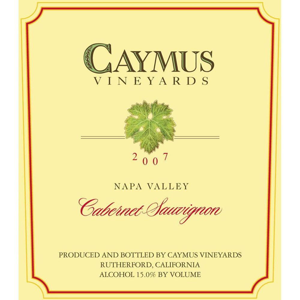 Caymus Napa Valley Cabernet Sauvignon 2007 Front Label