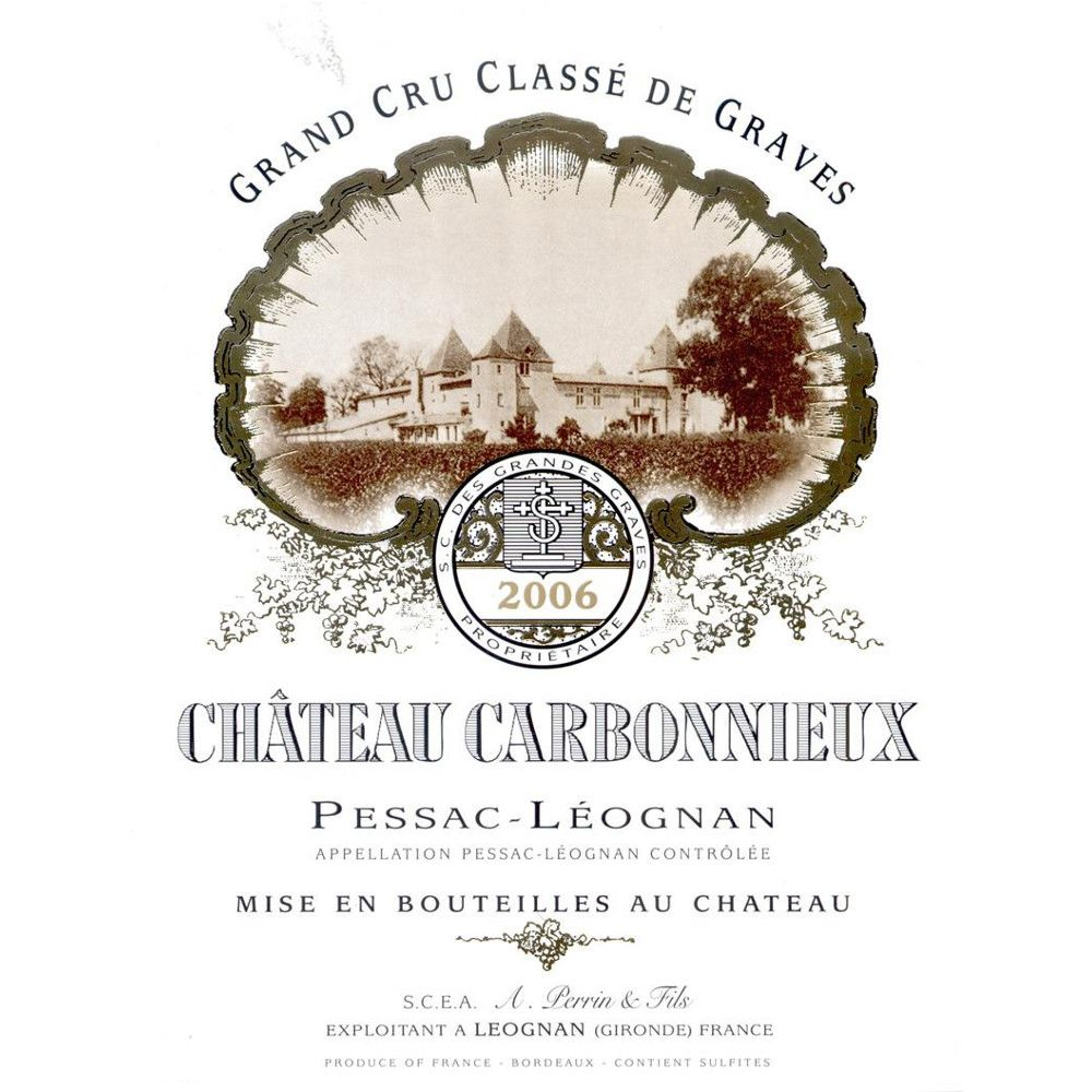 Chateau Carbonnieux Blanc 2006 Front Label