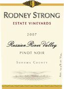 Rodney Strong Estate Pinot Noir 2007 Front Label