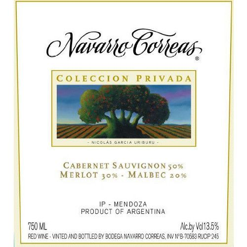 Navarro Correas Coleccion Privada Cabernet Sauvignon 2006 Front Label