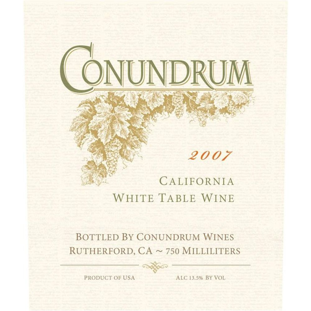Conundrum (375ML half-bottle) 2007 Front Label