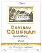 Chateau Coufran Haut-Medoc 2003 Front Label
