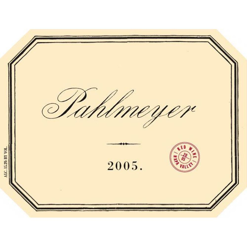 Pahlmeyer Napa Valley Proprietary Red 2005 Front Label