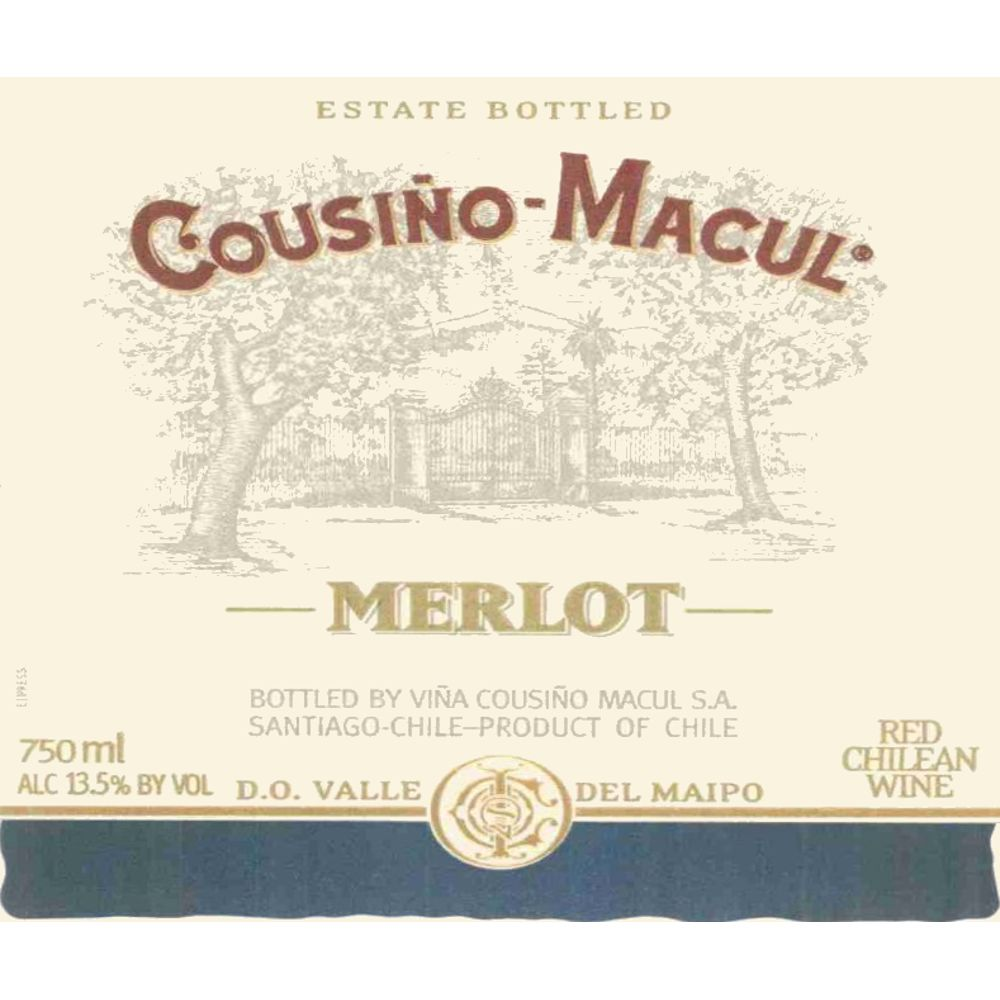 Cousino Macul Merlot 2007 Front Label