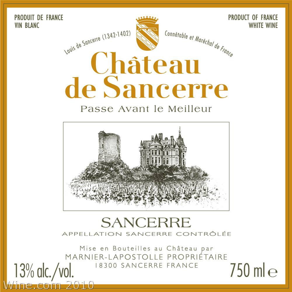 Chateau de Sancerre Blanc 2007 Front Label