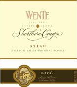 Wente Syrah 2006 Front Label