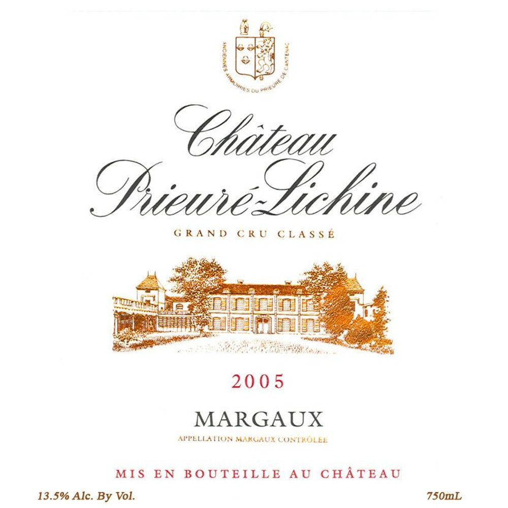 Chateau Prieure-Lichine  2005 Front Label
