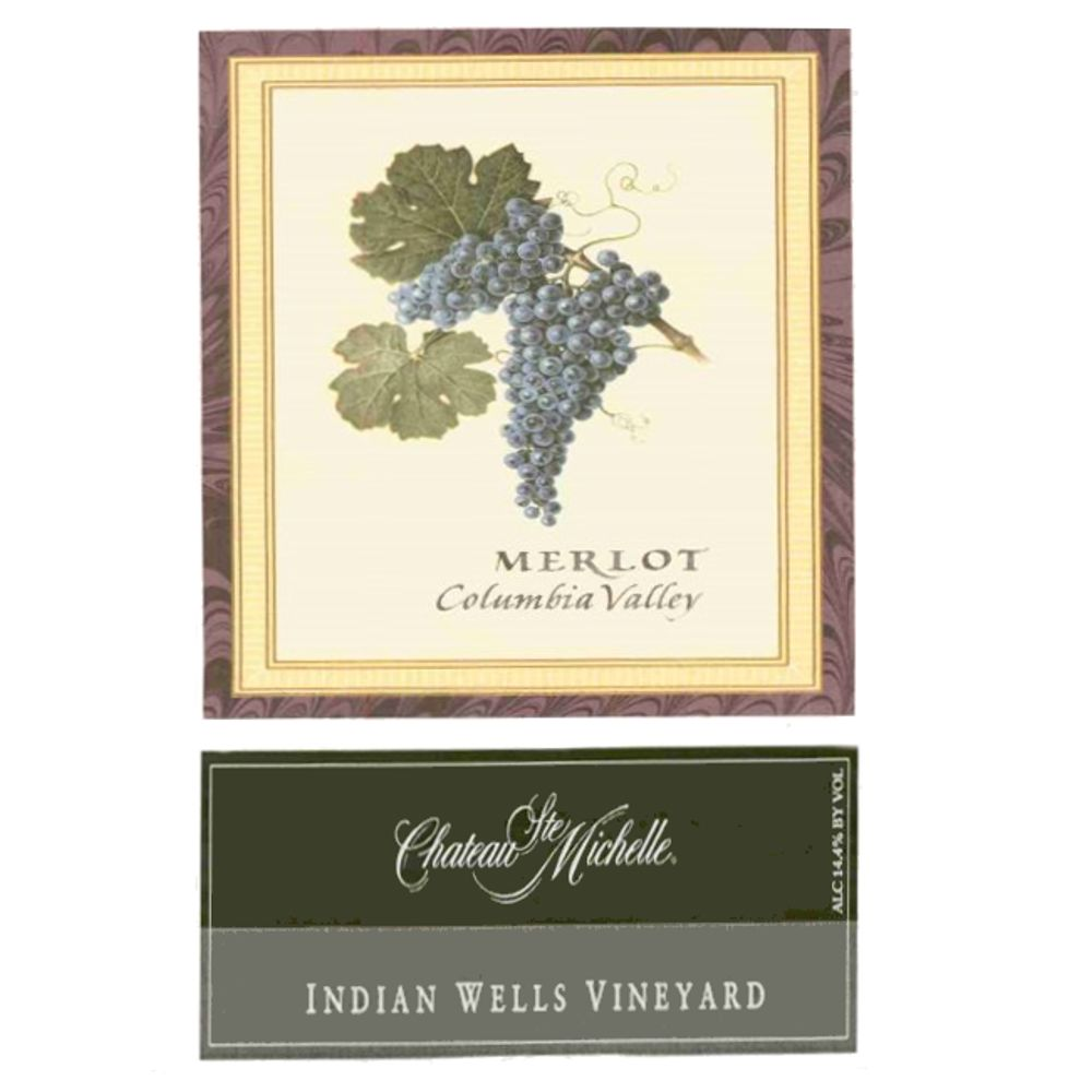 Chateau Ste. Michelle Indian Wells Vineyard Merlot 2005 Front Label