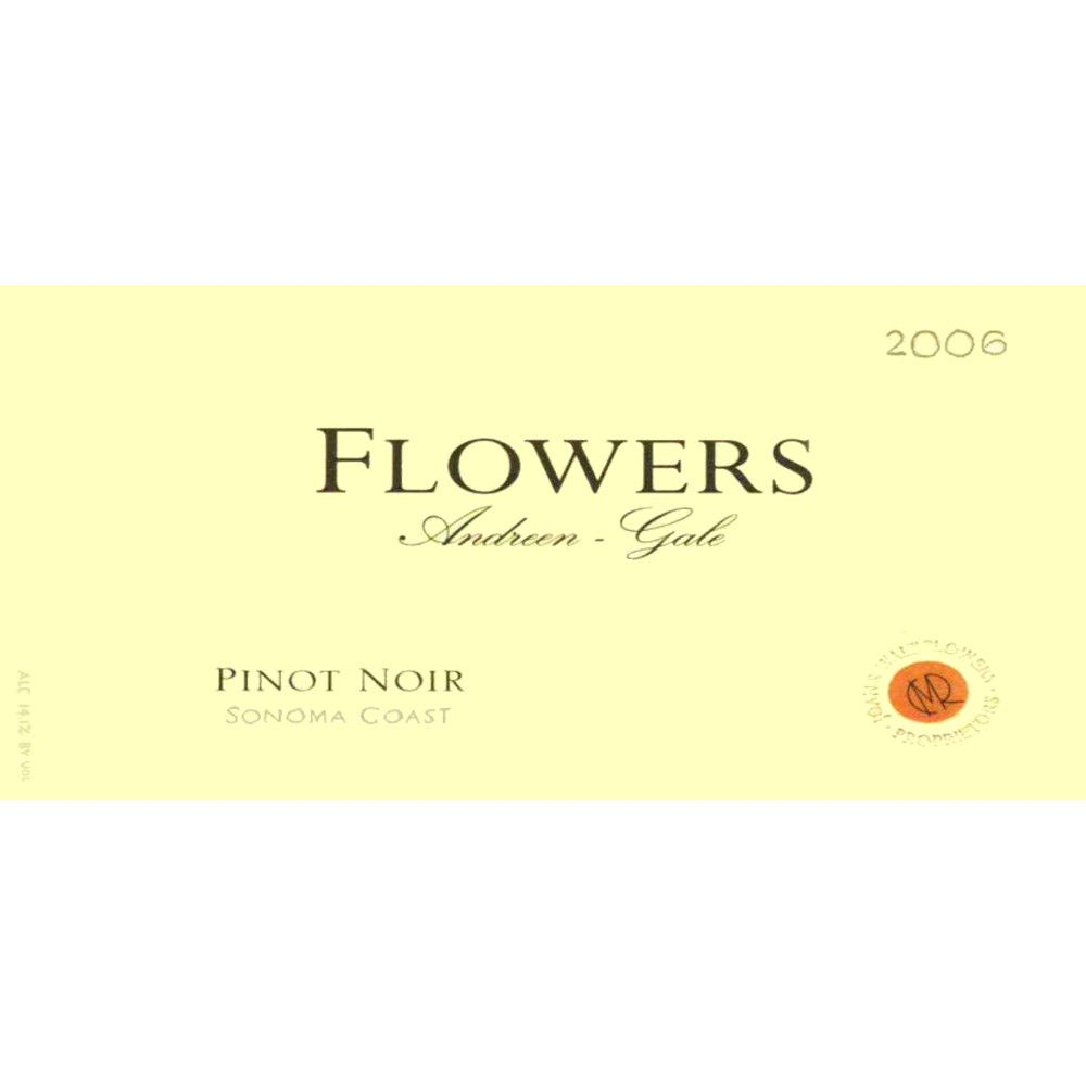 Flowers Andreen-Gale Pinot Noir 2006 Front Label