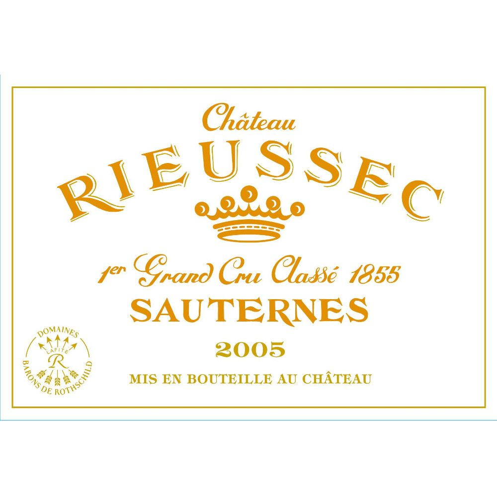 Chateau Rieussec Sauternes (375ML half-bottle) 2005 Front Label