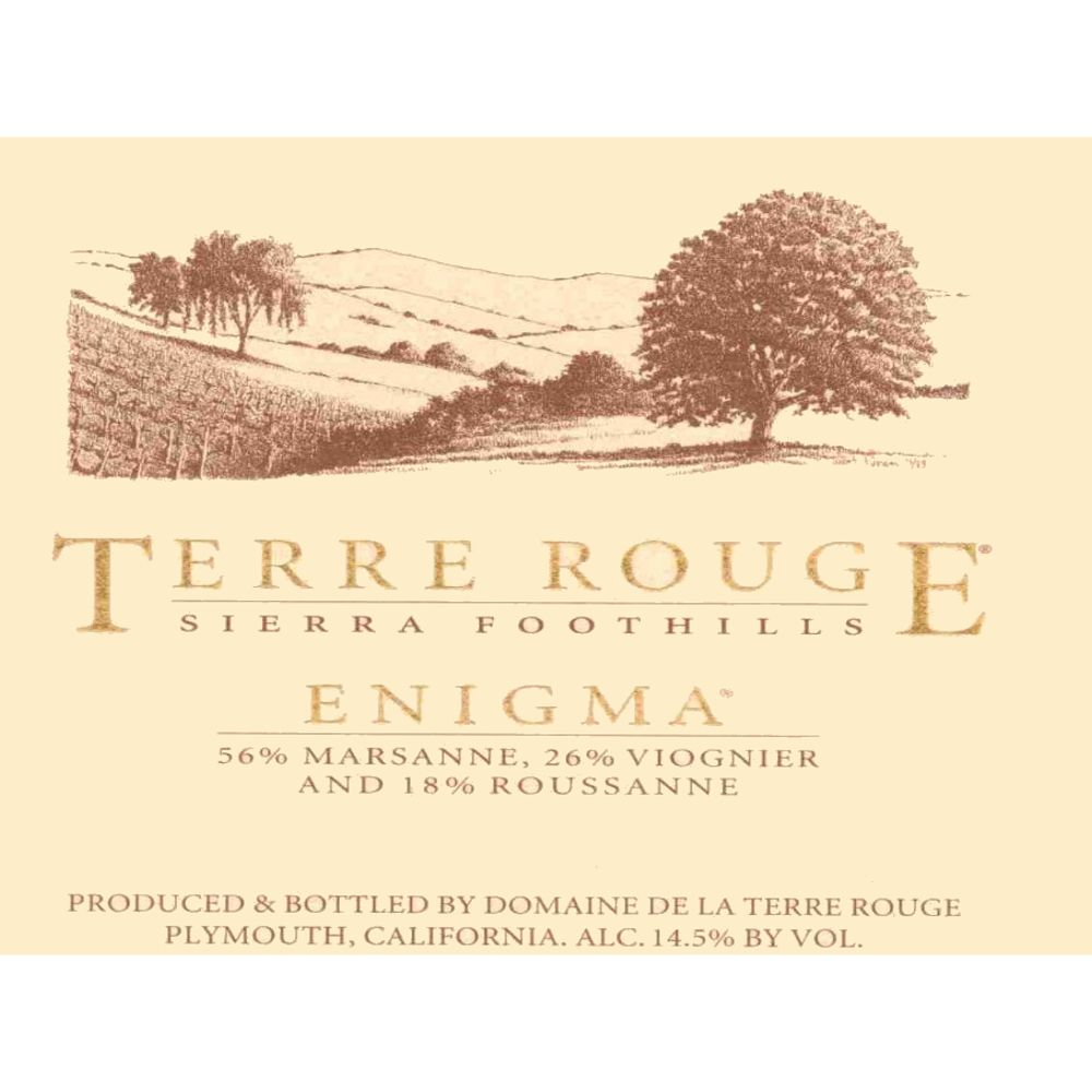Terre Rouge Enigma 2006 Front Label